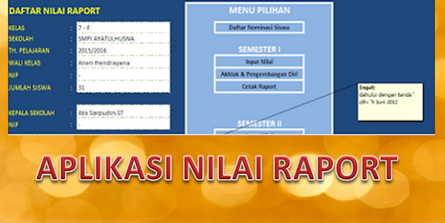 Download Aplikasi Rekap Nilai Raport Kurikulum 2013