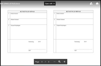 Format Buku Tamu Khusus Sekolah PAUD/ TK/ RA/ KB Doc