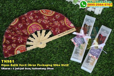 Kipas Batik Kecil Obras Packaging Mika Motif