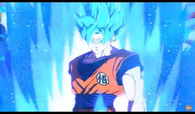 New Dragon Ball FighterZ's trailer showing Goku and Vegita in Super Saiyan Blue form