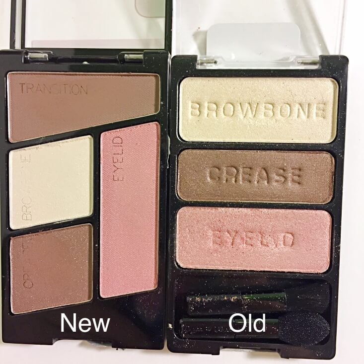 wet n wild coloricon Eyeshadow Quad old vs new Sweet as Candy