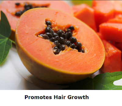 Health Benefits of Papaya - Paw paw Papaya Promotes Hair Growth