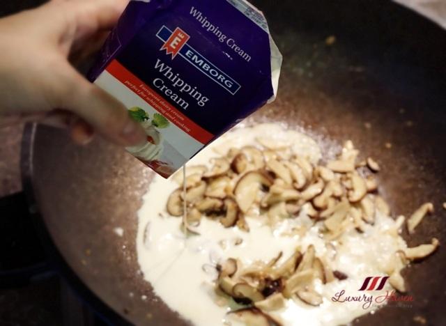 emborg whipping cream recipes foie gras shitake mushroom