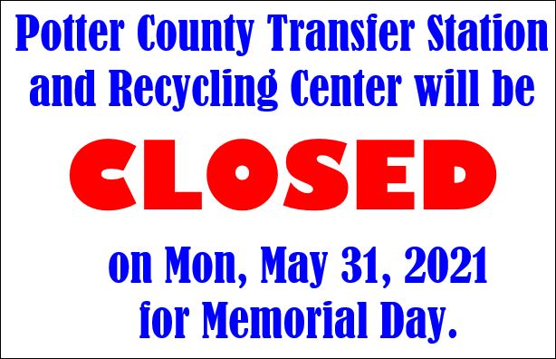 5-31 Potter Co. Recycling & Transfer Station Closed