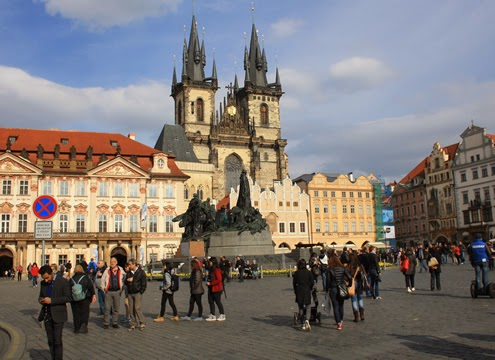 Prague old town square | Happy in Red