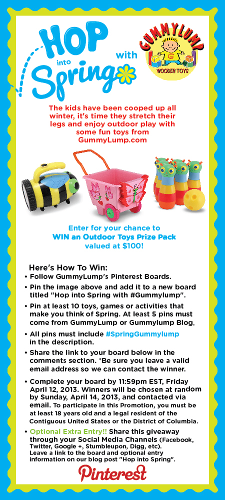 Hop into Spring with GummyLump's Pinterest Contest!