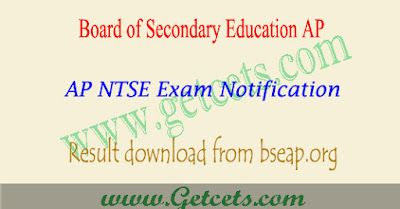 AP NTSE Results 2021 stage 1, merit list pdf download from bseap
