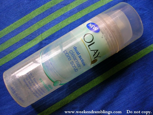 Olay Dual Action Cleanser Pore Scrub - Foaming Cleanser