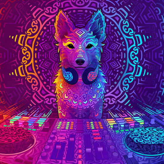 Color Music Festival Wolf Wallpaper Engine