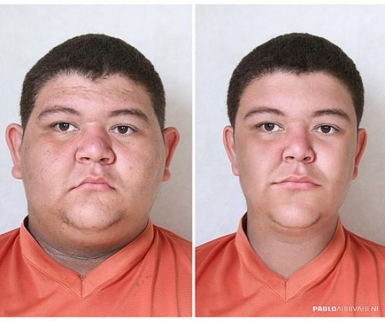 Designer remontou vários rostos aleatórios no Photoshop