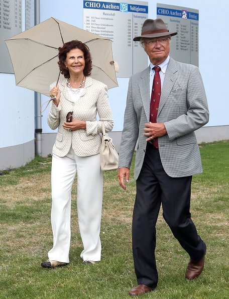 King Carl Gustaf and Queen Silvia  visit the CHIO World Equestrian Festival in Aachen, Germany