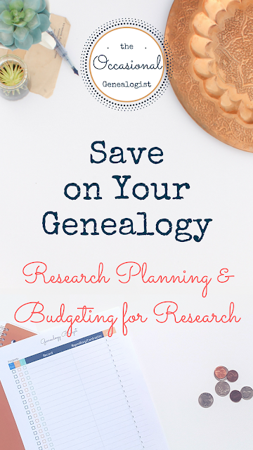 Budgeting for Genealogy 3-plan examples