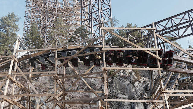 Photo of Zero-G Inversion on Wildfire Roller Coaster at Kolmarden Zoo in Sweden