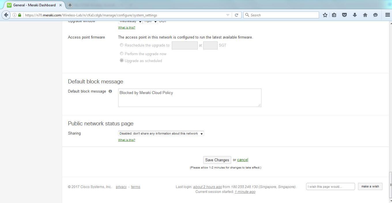 My CCNA Wireless Journal: Meraki Dashboard SSID Access Control Policies