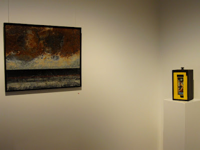 Two works in the Alex Asch exhibition 'under construction' at Beaver Galleries.