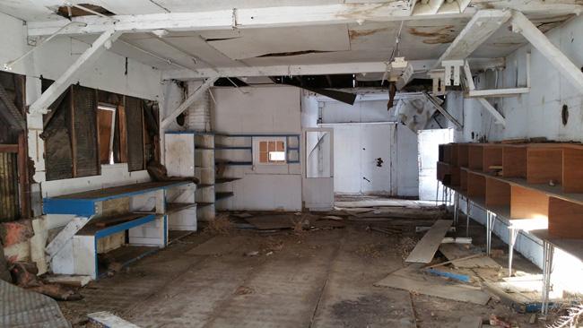 Abandoned buildings of the White Satin Amalgamated Sugar Company in Loveland, Colorado