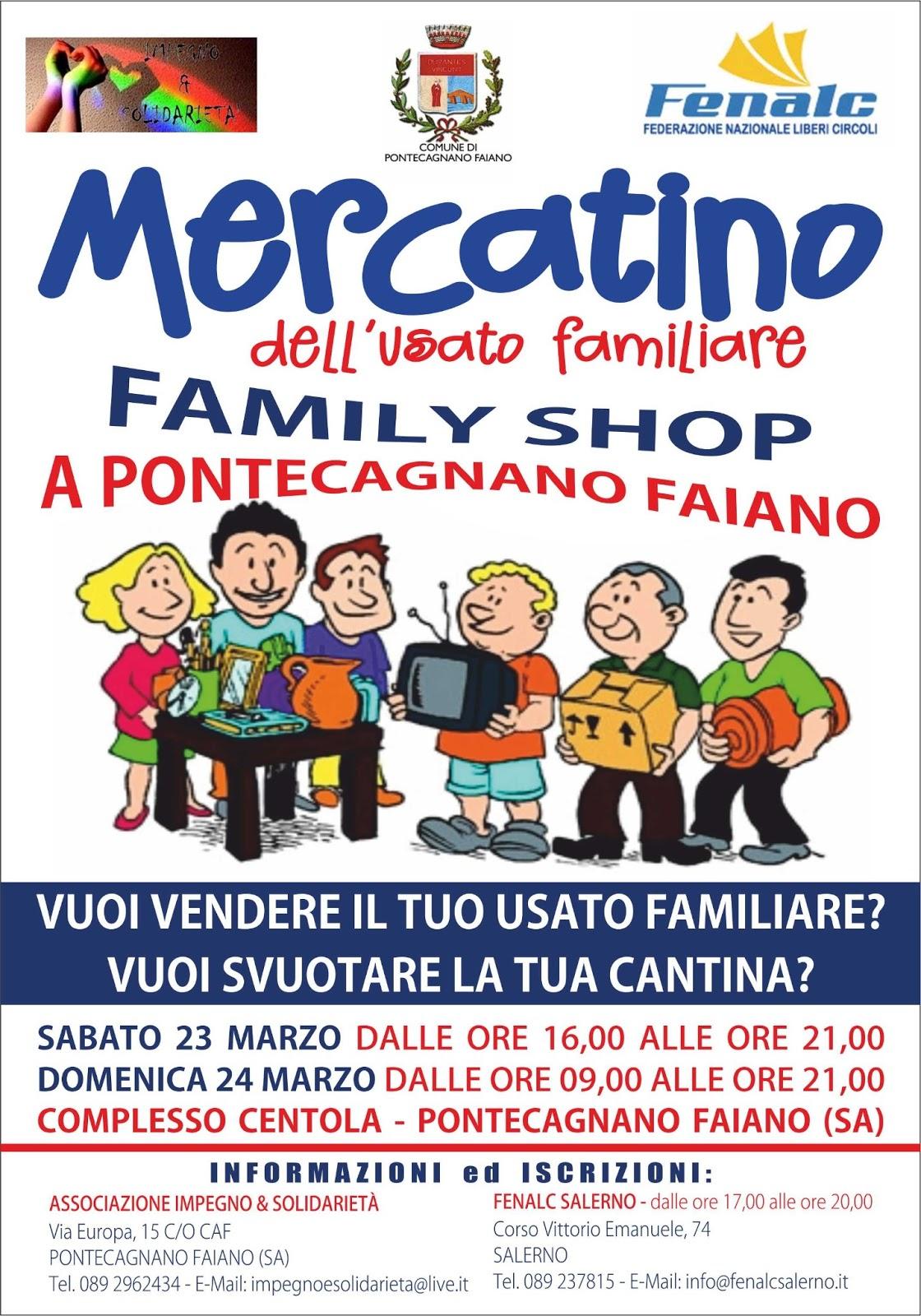 Il 23 E 24 Marzo 2013 Si è Svolto A Pontecagnano Faiano (SA) Il Family  Shop, Un Mercatino Dellu0027usato Familiare E Dellu0027artigianato Locale.