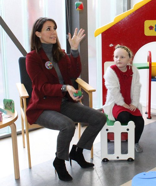 Danish Princess Marie wore Zara double breasted tailored jacket, Zara trousers, Zara sweater, Gianvito Rossi boots