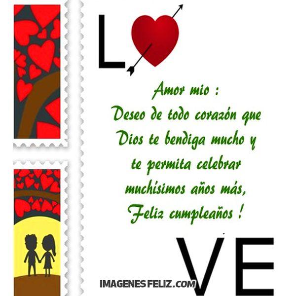 Frases para feliz cumpleanos para mi amor