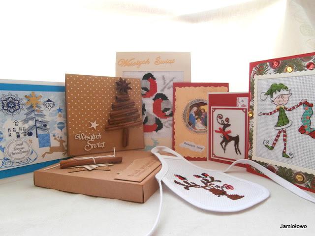 Świąteczne karteczki od znajomych blogerek