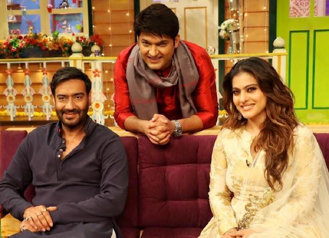 Kapil Sharma With Ajay Devgan And Kajol Devgan In His Show