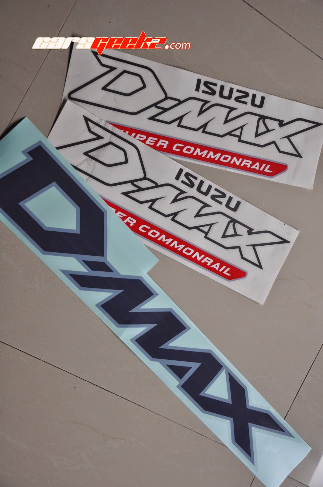 Dmax Isuzu Super Commonraill sticker OEM vinyl