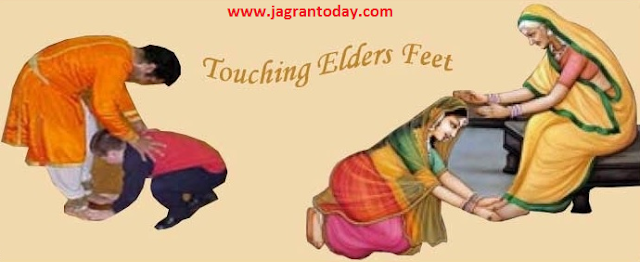 Greet Elders by Bow Down and Touching Their Feet