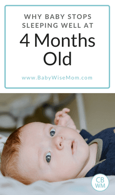 Why baby stops sleeping well at four months old. Common reasons for poor sleep at four months old.