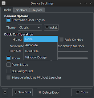 Docky - simply dock application for archlinux