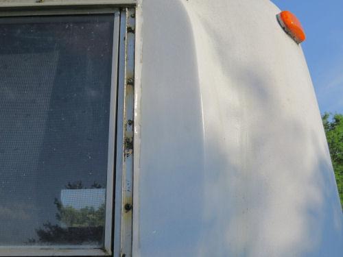clean fiberglass trailer exterior