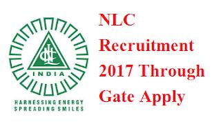 NLC Recruitment 2017 Through Gate