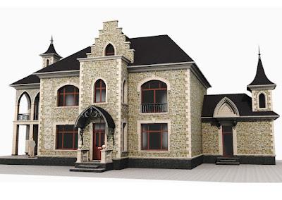 Перспективный вид проектируемой реконструкции фасадов