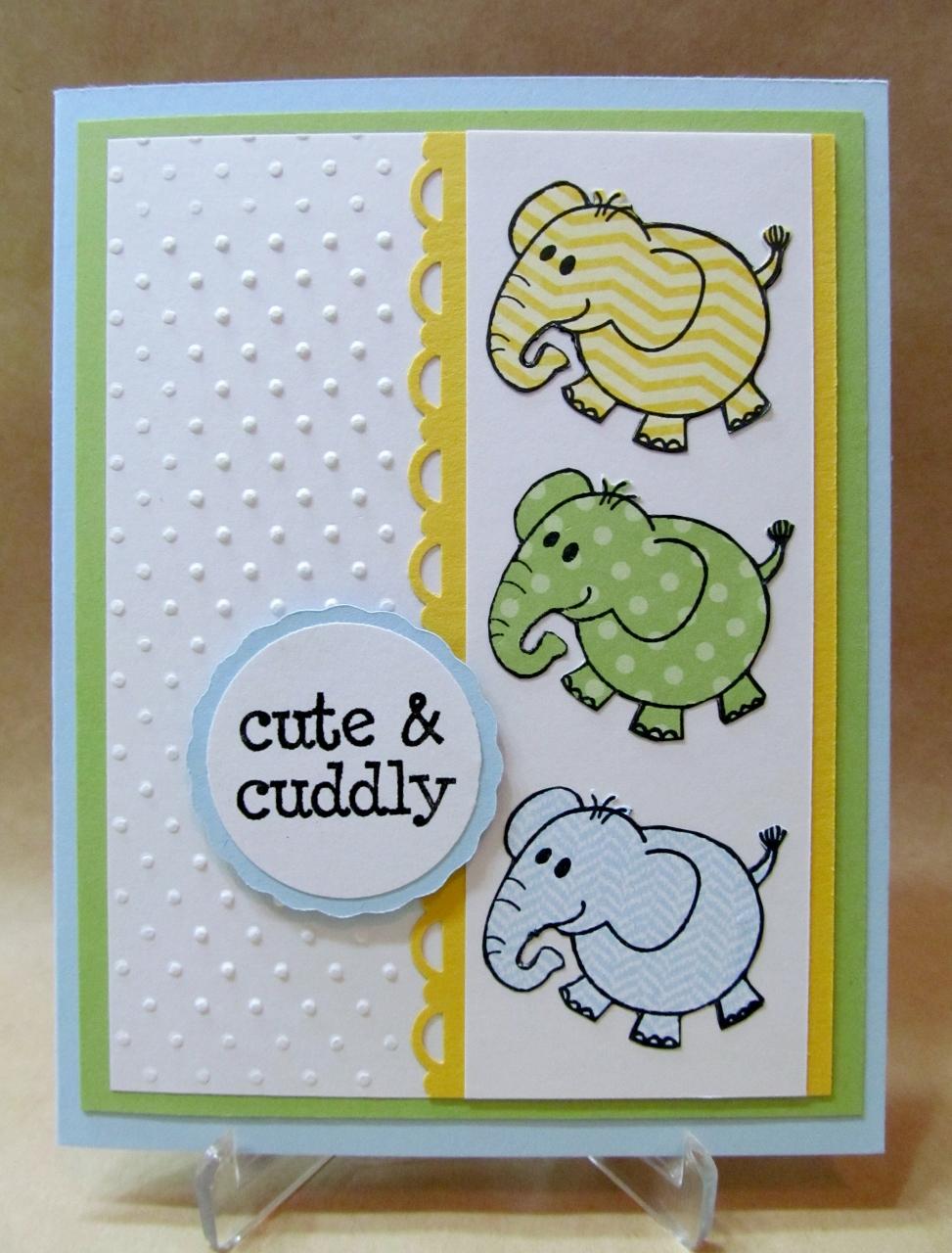 Savvy Handmade Cards: Cute & Cuddly Baby Card