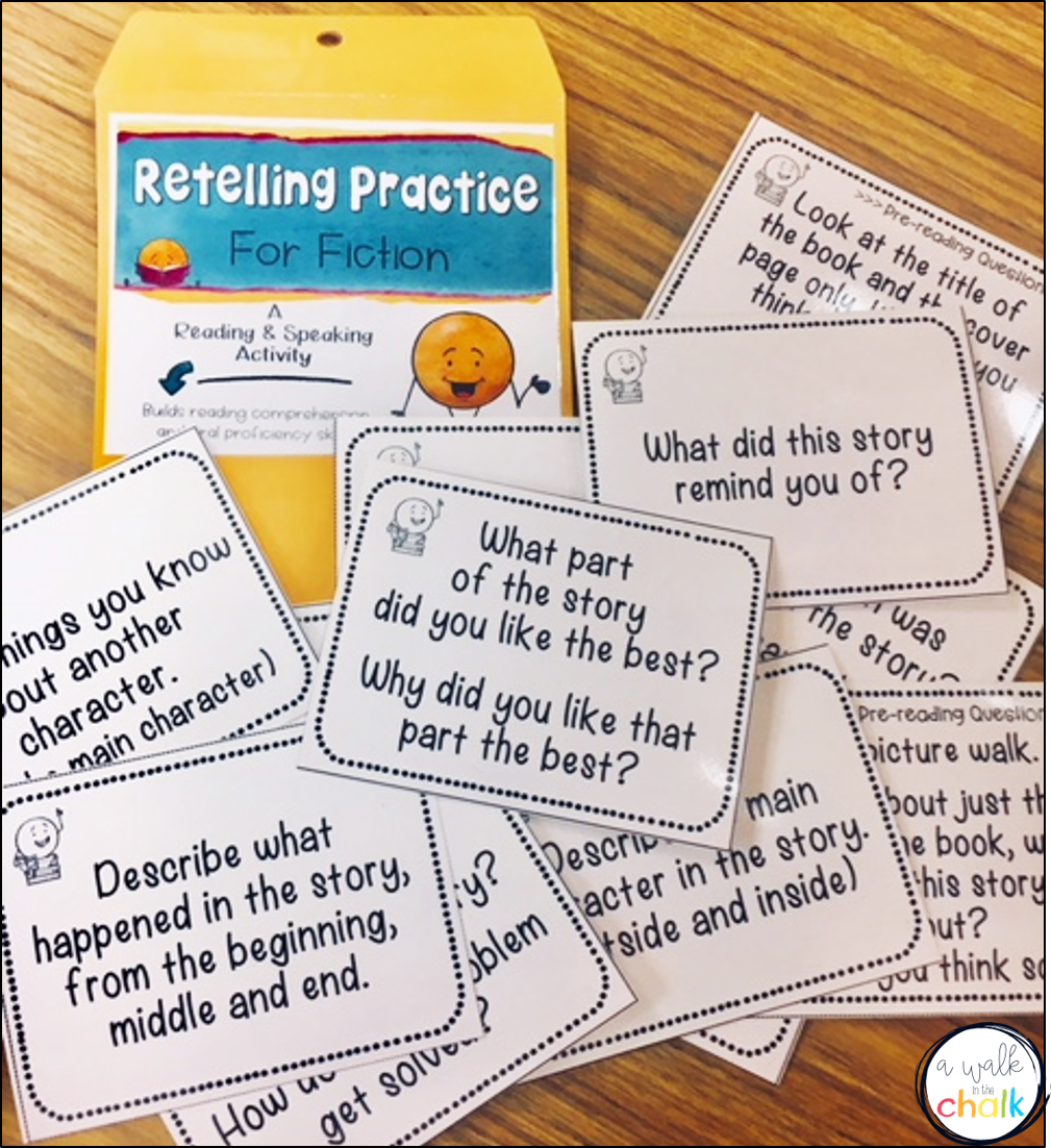 medium resolution of Teaching Beginning English Language Learners How To Retell   A Walk in the  Chalk