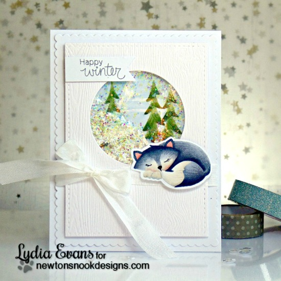 Christmas Favorites Week - Day 5  | Fox Winter card by Lydia Evans | Fox Hollow stamp set by Newton's Nook Designs #newtonsnook #christmascards
