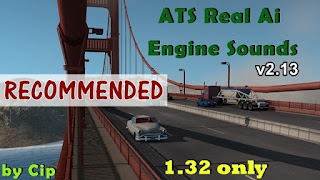 american truck simulator mods, ats engine sounds, ats mods, ats realistic mods, ats sound mods, recommendedmodsats, ats real ai traffic engine sounds v2.13