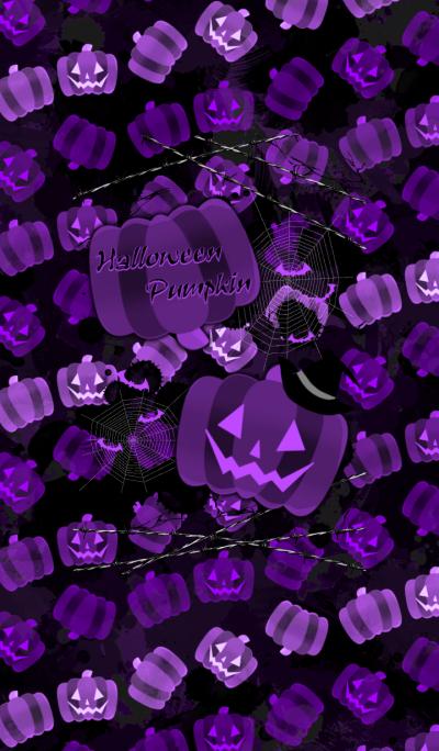 Halloween pumpkin -PURPLE-