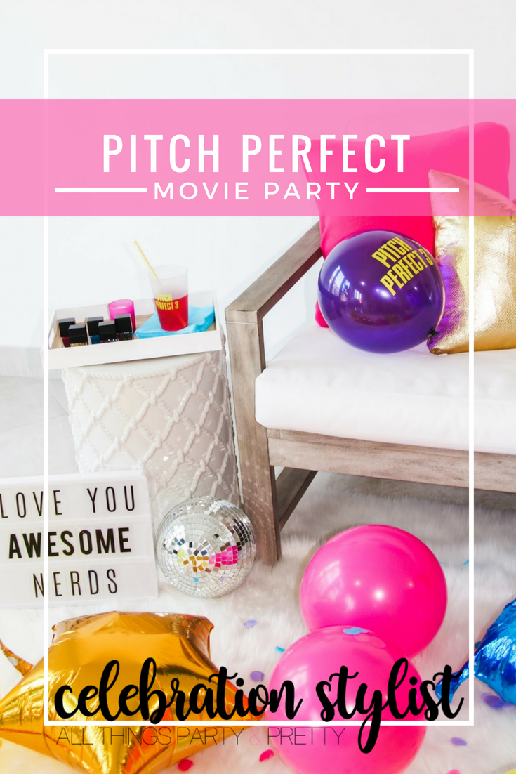 Pitch Perfect 3 Movie Party by popular party blogger Celebration Stylist