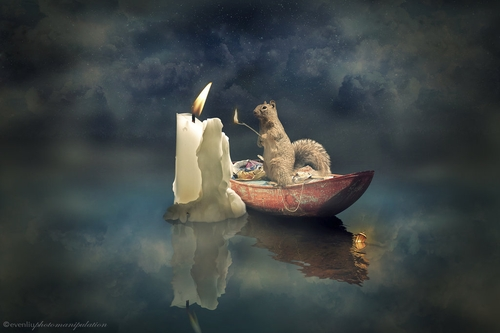 03-Candle-Even-Liu-Surreal-Photo-Manipulations-and-the-Lantern-www-designstack-co
