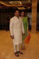 Sachin Tendulkar with his wife at Mata ka Jagrata hosted by Anu Malik 17.JPG