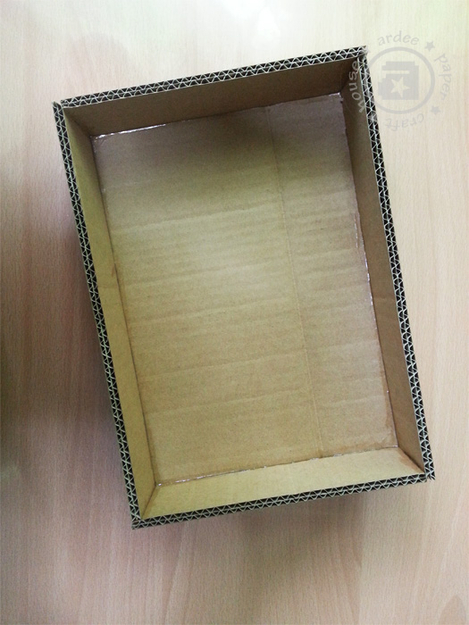how to make a cardboard box frame