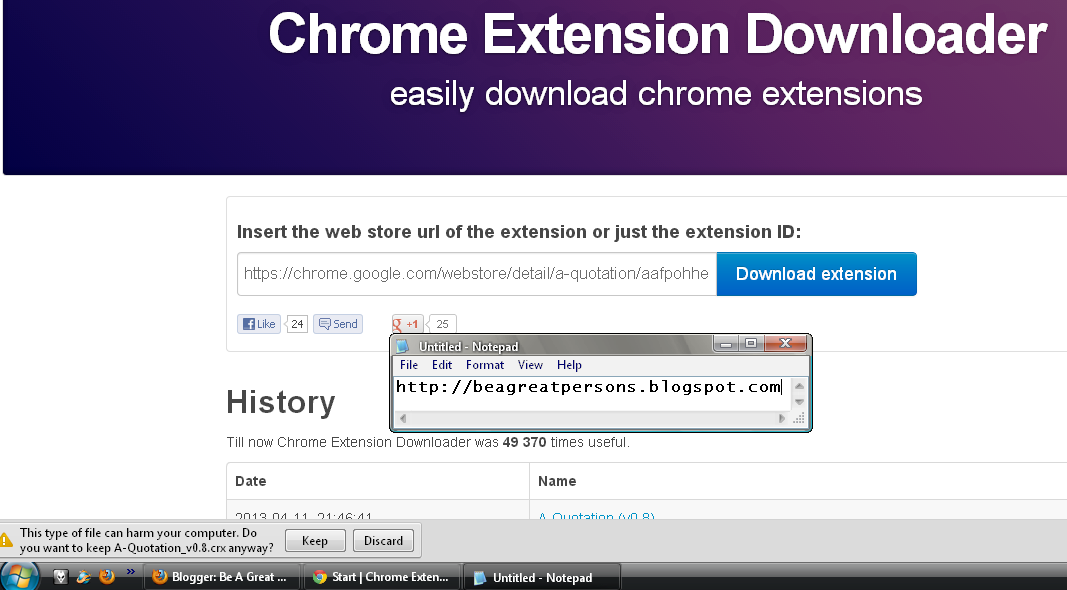 Cara Download dan Install Extension Google Chrome ~ Be A Great Persons