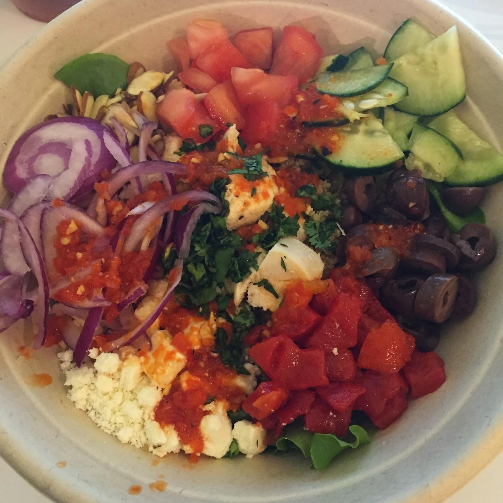 Mediterranean Chicken Quinoa Bowl Recipe: Southern FIT: Weekend Adventures & Freshii