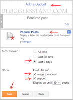 how to add popular post widget from blogger layout
