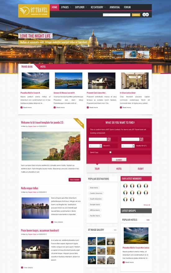 Tour And Travel Website Templates Html: full version free