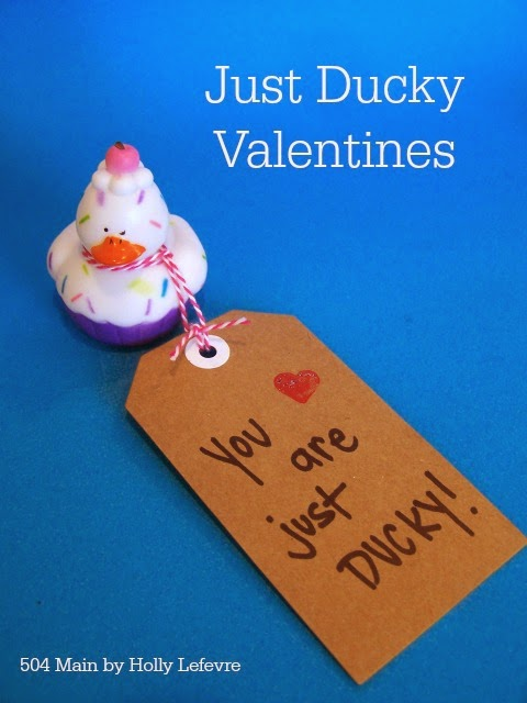 Just Ducky Non-Candy Valentines!