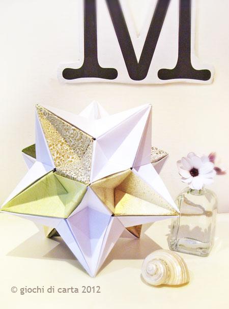 giochi di carta: origami modulari come complemento di arredo