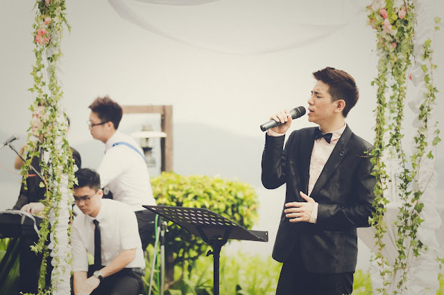 wedding singer in suit