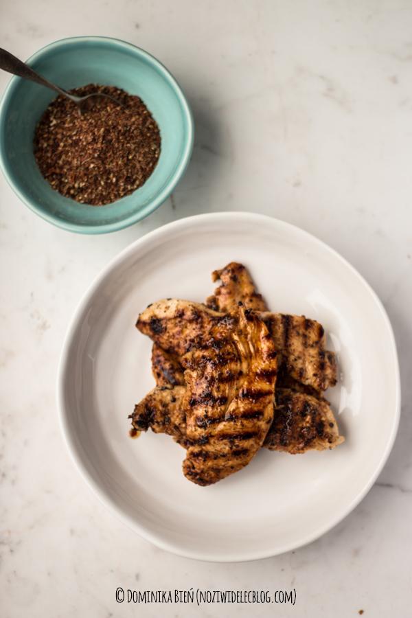 kurczak, przyprawa red reb, chilli, sumak