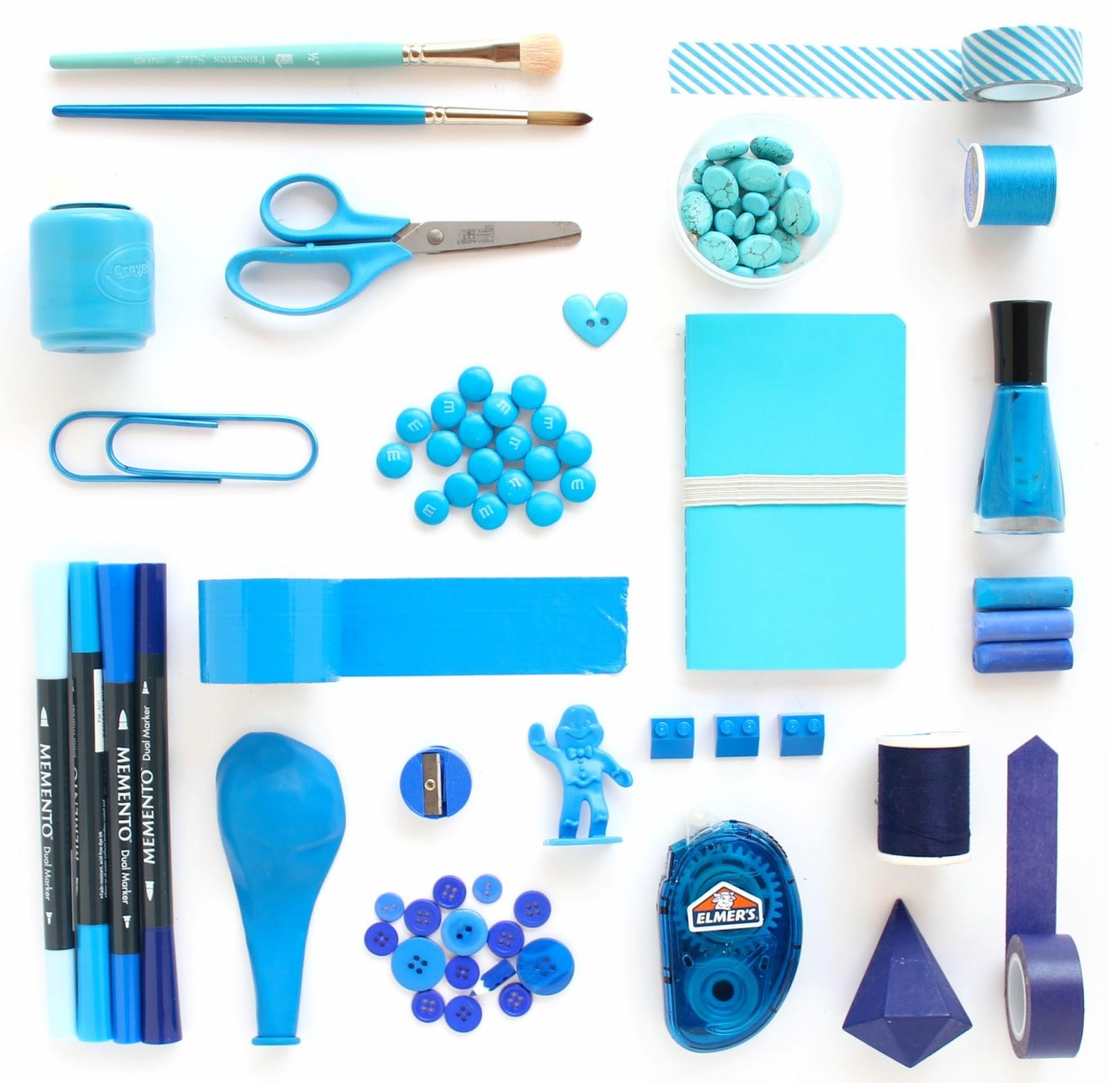 Blue Color Study - Lines Across